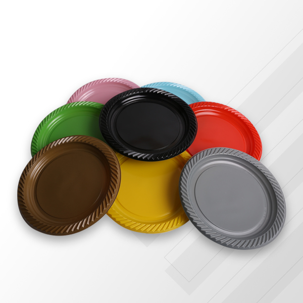Renkli Plastik Tabak